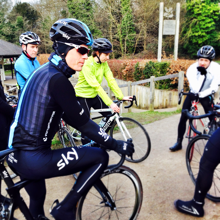 Ben Swift - unlike others on Box Hill, he didn't get that Team Sky kit for Christmas.