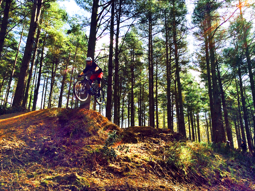 Surrey Hills Mountain bike jump