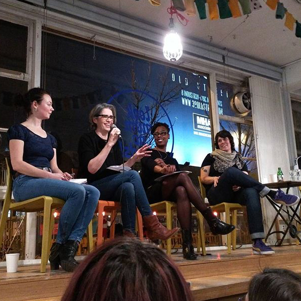 On the panel at Look Mum No Hands